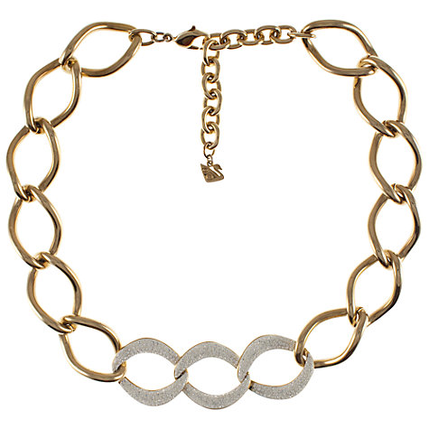 Buy Eclectica 1980s Swarovski Paste Gold Plated Necklace, Gold Online at johnlewis.com
