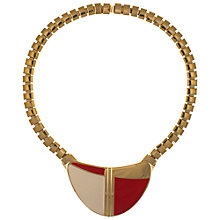 Buy Eclectica 1980s Trifari Enamel Pendant Gold Plated Necklace, Red Online at johnlewis.com