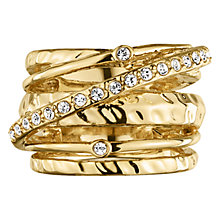 Buy Dyrberg/Kern Wendolyn Gold Plated Stack Effect Ring, I Online at johnlewis.com