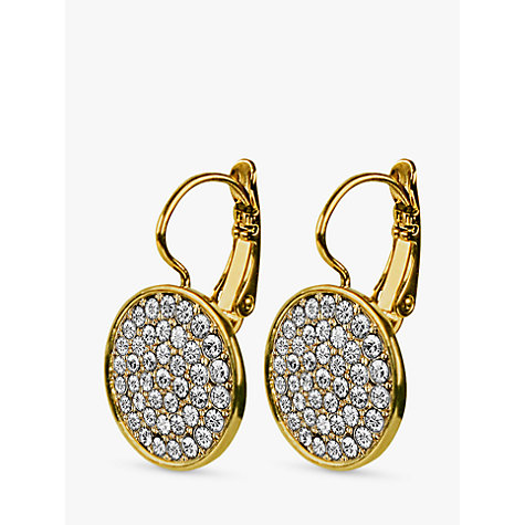 Buy Dyrberg/Kern Desira Gold Plated Crystal Disc Earrings Online at johnlewis.com