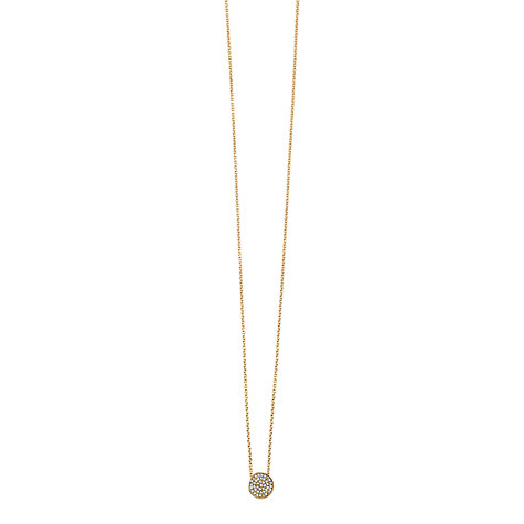 Buy Dyrberg/Kern Leah 45 Gold Plated Swarovski Crystal Pendant Necklace Online at johnlewis.com