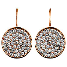 Buy Dyrberg/Kern Desira Crystal Disc Drop Earrings Online at johnlewis.com