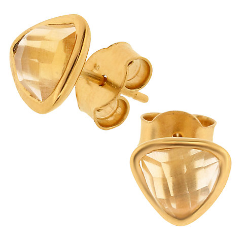 Buy Amrapali for Dinny Hall Jaipur Collection Trillion Cut Stud Earrings Online at johnlewis.com