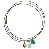 Orelia Triple Drop Charm Bangle