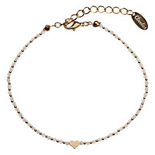 Buy Orelia Mesa Pearl Bead and Heart Bracelet Online at johnlewis.com