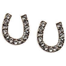 Buy Orelia Payson Sparkling Crystal Horseshoe Earrings Online at johnlewis.com