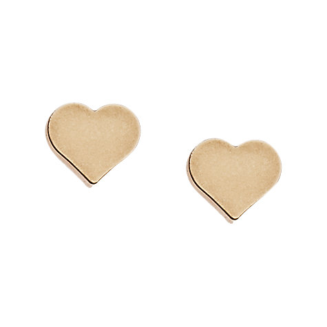 Buy Orelia Dubretia Chunky Heart Stud Earrings, Gold Online at johnlewis.com