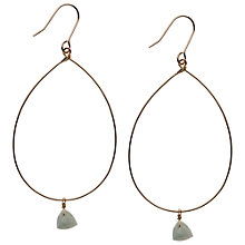 Buy Orelia Wire Hoop Stone Drop Earrings, Blue Online at johnlewis.com