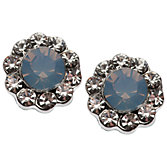 Orelia Stone Flower Crystal Stud Earrings