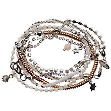 Buy Orelia Multi Row Beaded Bracelet, Gold Online at johnlewis.com