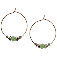 Buy Orelia Graduated Bead Hoop Earrings Online at johnlewis.com