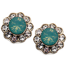 Buy Orelia Forget Me Not Stone Flower Stud Earrings, Blue Online at johnlewis.com