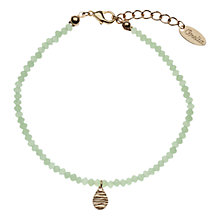 Buy Orelia Foxglove Tiny Teardrop Bead Bracelet, Mint Online at johnlewis.com