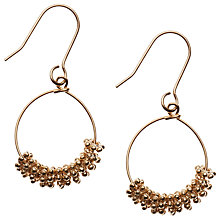 Buy Orelia Floral Cluster Hoop Earrings, Gold Online at johnlewis.com