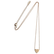 Buy Orelia Chunky Heart Pendant Necklace, Gold Online at johnlewis.com