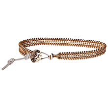Buy Orelia Metal Ball Cotton and Leather Friendship Bracelet Online at johnlewis.com