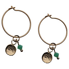 Buy Orelia Tiny Hoop and Coin Earrings, Mint Online at johnlewis.com