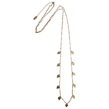 Buy Orelia Heart Charm Long Necklace, Gold Online at johnlewis.com