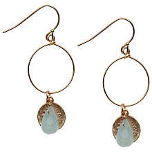 Buy Orelia Teardrop Disc Hoop Earrings, Blue Online at johnlewis.com
