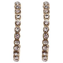 Buy Orelia Sparkle Hoop Earrings, Gold Online at johnlewis.com