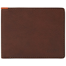 Buy Fossil Parson Leather Bi-Fold Wallet Online at johnlewis.com