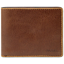 Buy Fossil Nolan Zip Coin Pocket Leather Wallet Online at johnlewis.com