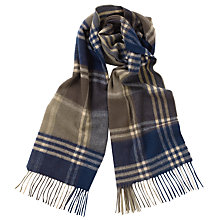 Buy Barbour Kindar Check Scarf, Olive/Navy Online at johnlewis.com
