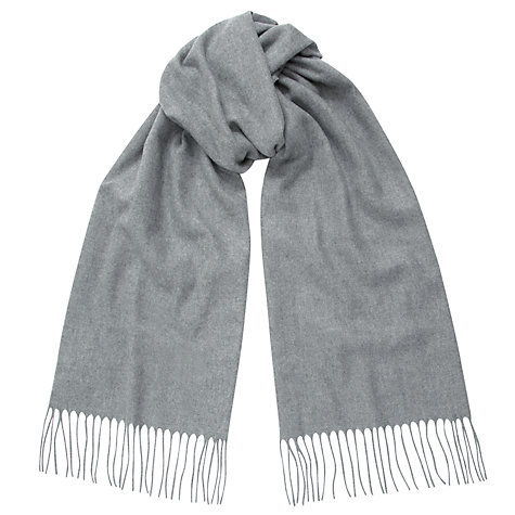 Buy John Lewis Cashmink Plain Scarf, Grey Online at johnlewis.com