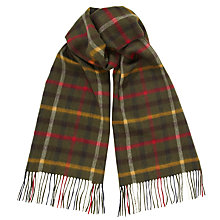Buy Barbour Tattersall Check Scarf, Olive Green Online at johnlewis.com
