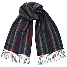 Buy John Lewis Cashmink Stripe Scarf, Grey/Multi Online at johnlewis.com