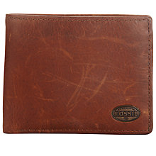 Buy Fossil Estate Passcase Leather Wallet Online at johnlewis.com