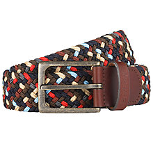 Buy Barbour Woven Leather Trim Belt Online at johnlewis.com