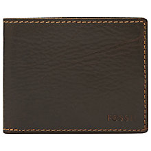 Buy Fossil Tuck Travel Wallet, Brown Online at johnlewis.com