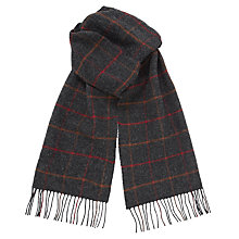 Buy Barbour Tartan Lambswool Scarf, Grey Online at johnlewis.com