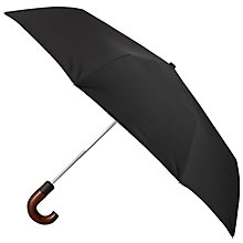 Buy Barbour Telescopic Tartan Lining Umbrella, Navy Online at johnlewis.com