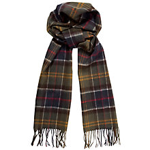 Buy Barbour Merino Cashmere Tartan Scarf, Multi Online at johnlewis.com
