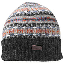 Buy Barbour Melrose Fair Isle Beanie, Grey Online at johnlewis.com