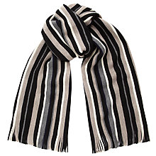 Buy John Lewis Rochelle Stripe Scarf, Monochrome Online at johnlewis.com