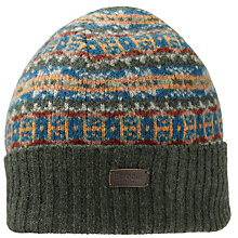 Buy Barbour Melrose Fair Isle Beanie, One Size Online at johnlewis.com