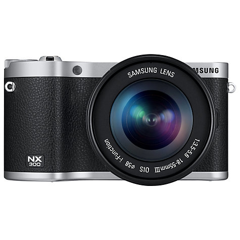 "Buy Samsung NX300 Compact System Camera with 18-55mm & 16mm Lens, HD 1080p, 20.3MP, Wi-Fi, NFC, 3.31"" Tilting Touch Screen Online at johnlewis.com"