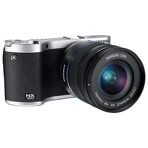 Buy Samsung NX300 Compact System Camera with 18-55mm & 16mm Lens, HD 1080p, 20.3MP, Wi-Fi, NFC, Flash, 3.31 Tilting Touch Screen Online at johnlewis.com
