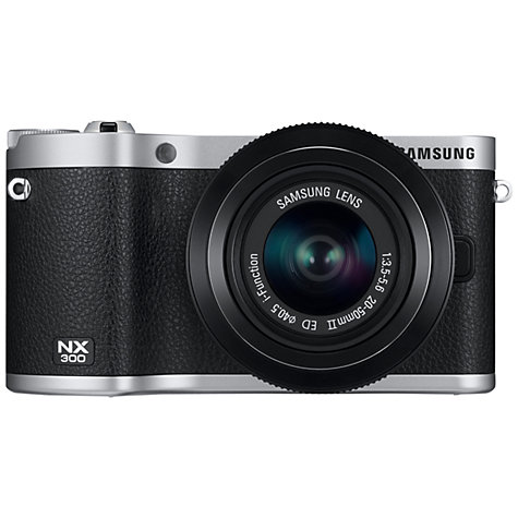 Buy Samsung NX300 Compact System Camera with 20-50mm, HD 1080p, 20.3MP, Wi-Fi, NFC, 3.31 Tilting Touch Screen Online at johnlewis.com