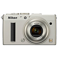 "Buy Nikon Coolpix A Digital Camera, HD 1080p, 16.2MP, 3"" LCD Screen, Silver with Memory Card Online at johnlewis.com"