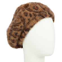 Buy John Lewis Angora Mix Animal Print Beret Online at johnlewis.com