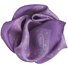 Buy Eton Polka Dot Print Pocket Square, Purple Online at johnlewis.com