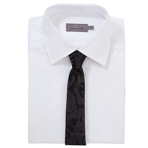 Buy Ted Baker Somore Paisley Print Tie, Charcoal Online at johnlewis.com