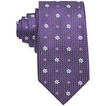 Buy Eton Floral Patterned Silk Tie Online at johnlewis.com