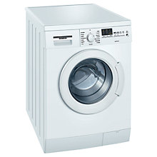 Buy Siemens WM14E460GB Washing Machine, 7kg Load, A+++ Energy Rating, 1400rpm Spin, White Online at johnlewis.com
