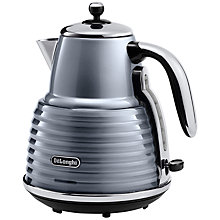 Buy De'Longhi Scultura Kettle and 4-Slice Toaster, Gun Metal Online at johnlewis.com