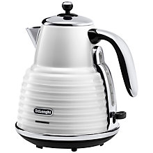 Buy De'Longhi Scultura Kettle and 4-Slice Toaster, White Online at johnlewis.com